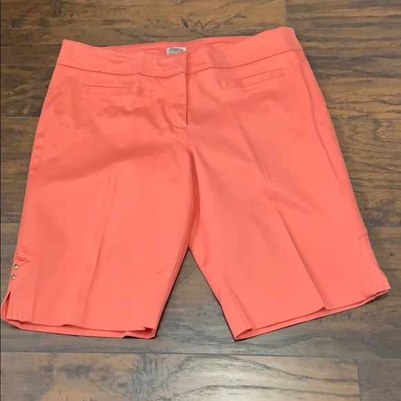 Salmon colored shorts from Cache.